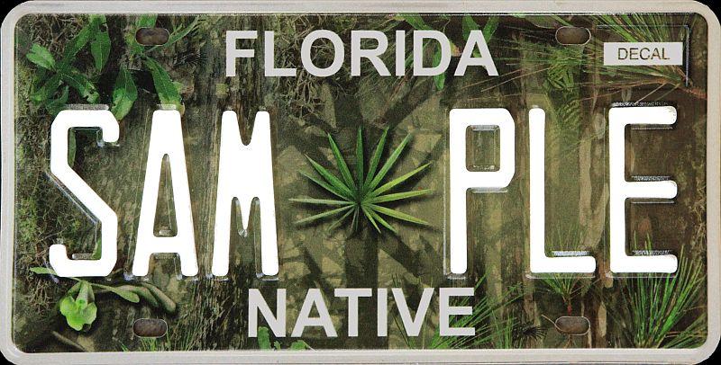 Florida Native Plate